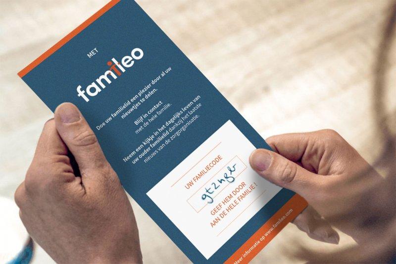 flyer famileo voor inschrijving familie